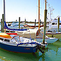 Yachts In A Port 4 by Jeelan Clark