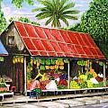 Yangon Fruitstand by Frank Anatol