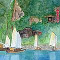 Yangtze Boats by Patricia Beebe