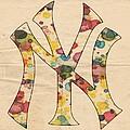 Yankees Vintage Art by Florian Rodarte