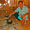 Yao Mien Tribe Man In His Home With His Cooking Pot North Of Chiang Rai In Mae Salong-thailand  by Ruth Hager