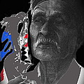 Yaqui Pascola Dancer Smoking Cigarette New Pascua Arizona 1969-2013 by David Lee Guss