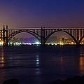 Yaquina Bay Bridge At Night by James Eddy