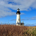 Yaquina Bay Lighthouse In Oregon by Athena Mckinzie