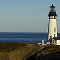Yaquina Head Lighthouse 4 D by John Brueske