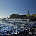 Yaquina Lighthouse And Beach No 1 by Belinda Greb