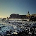 Yaquina Lighthouse And Beach No 2 by Belinda Greb