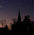 Yarmouth Church Moon by David DeCenzo