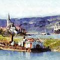 Ybbs An Der Donau Harbour by Menega Sabidussi