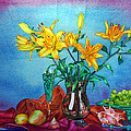 Yellow Lily In A Vase by Xavier Francois