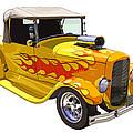 Yellow 1928 Hotrod Pickup Truck  by Keith Webber Jr