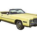 Yellow 1975 Cadillac Eldorado Convertible by Keith Webber Jr