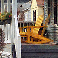 Yellow Adirondack Rocking Chairs by Susan Savad