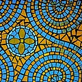 Yellow And Blue Mosaic by Eric Tressler