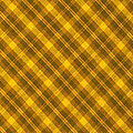Yellow And Brown Diagonal Plaid Pattern Cloth Background by Keith Webber Jr