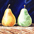Yellow And Green Pear by Irina Sztukowski
