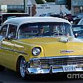 Yellow And White Classic Chevy by Optical Playground By MP Ray