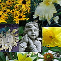 Yellow And White Flower Collage by Erin Rednour