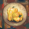 Yellow Bell Peppers by Linda Mears