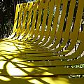 Yellow Bench by Claudia Goodell