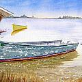 Yellow Boat II by Julia RIETZ