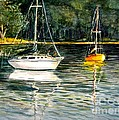 Yellow Boat Sister Bay by Marilyn Smith