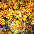 Yellow Bouquet - Palette Knife Oil Painting On Canvas By Leonid Afremov by Leonid Afremov