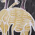 Yellow Brown Elephant In The Bush. by Okunade Olubayo