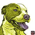 Yellow Bull Fractal Pop Art - 7773 - F - Wb by James Ahn
