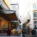 Yellow Cafe Arles France by Bridget Brummel