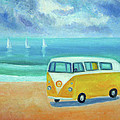 Yellow Camper by Mary Stubberfield