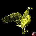 Yellow Canada Goose Pop Art - 7585 - Bb  by James Ahn