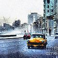 Yellow Car by Daliana Pacuraru