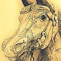 Yellow Carousel Horse by Lynn Sprowl
