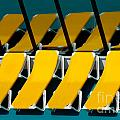 Yellow Chairs Reflected by Amy Cicconi