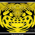 Yellow Chrysanthemums Polar Coordinates Effect by Rose Santuci-Sofranko