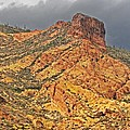 Yellow Colored Rock Along The Apache Trail by Tom Janca