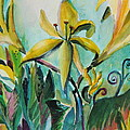 Yellow Day Lilies by Mindy Newman