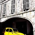 Yellow Deux Chevaux In Shadow by Olivier Le Queinec