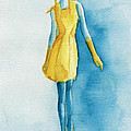 Yellow Ensemble - Watercolor Fashion Illustration by Beverly Brown