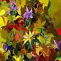 Yellow Fantasy Flower Garden by David Lane