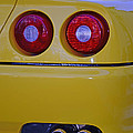 Yellow Ferrari Tail Lights by Paul Ward