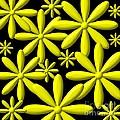 Yellow Flower Power 3d Digital Art by Rose Santuci-Sofranko