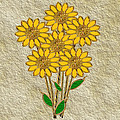 Yellow Flowers by Pat Follett