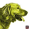 Yellow Golden Retriever - 4047 Fs by James Ahn