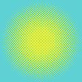 Optical Illusion - Yellow On Aqua by Paulette B Wright
