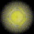 Optical Illusion - Yellow On Black by Paulette B Wright