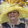 Yellow Hat At 2014 Kentucky Derby  by John McGraw