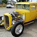 Yellow Hot Rod by VLee Watson