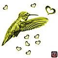 Yellow Hummingbird - 2055 F S M by James Ahn